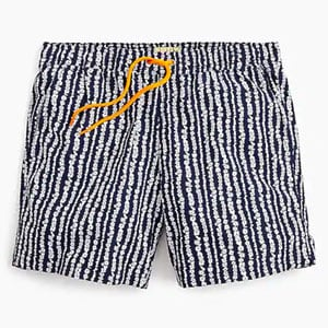 """6"""" stretch swim trunk in lei stripe"""