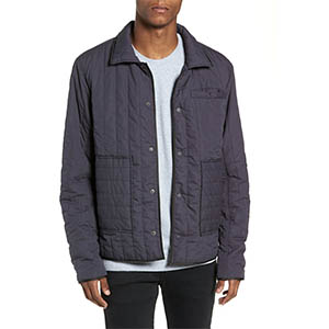 rail quilted jacket