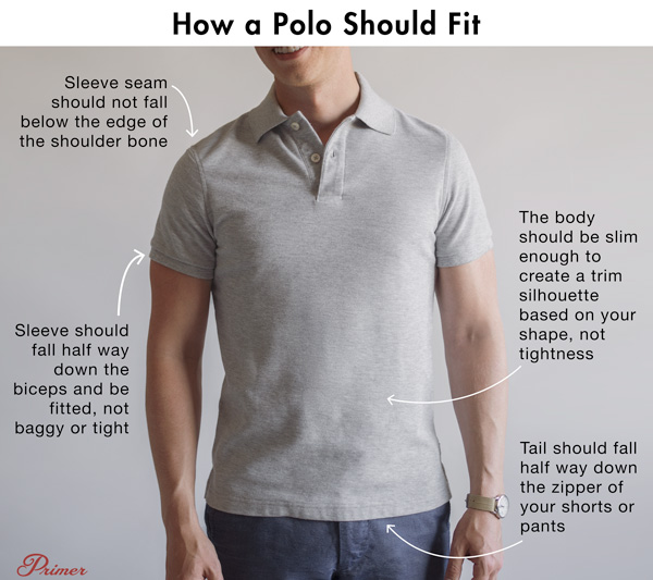 how a polo should fit diagram