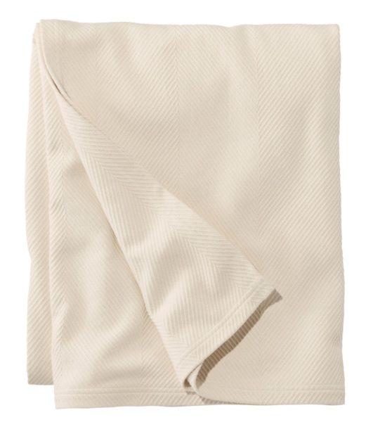 organic cotton blanket from ll bean