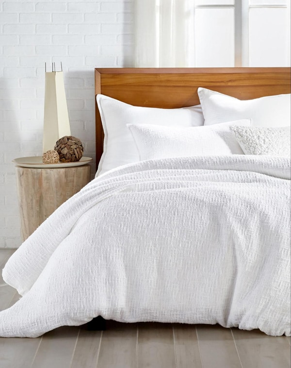 white dkny duvet cover