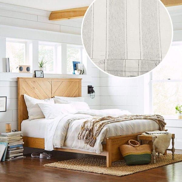stone and beam duvet cover gray