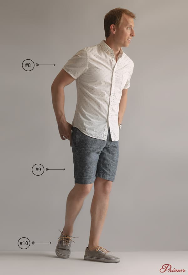 mens short sleeve summer outfit