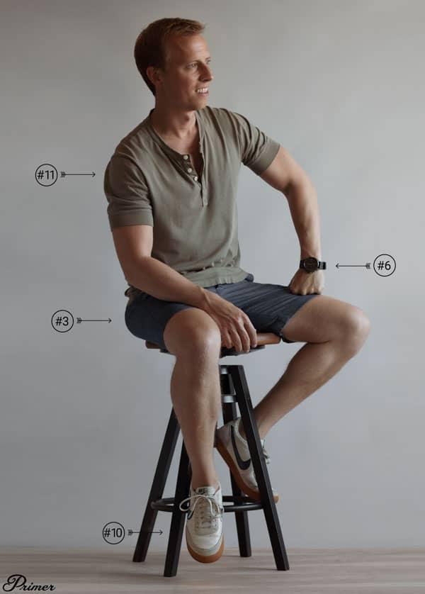 mens summer shorts outfit