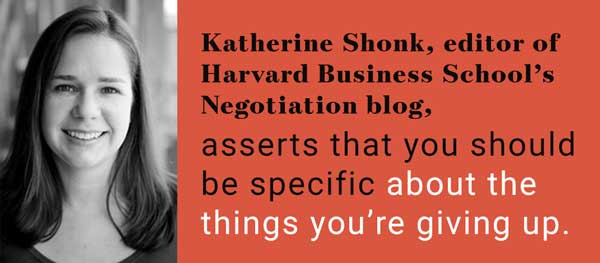 negotiation tips sacrifice kahterine shonk harvard