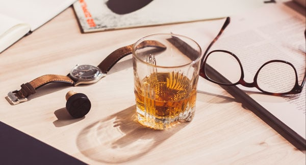scotch on desk