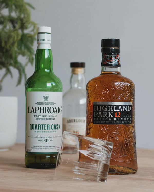 laphroaig higland park scotches