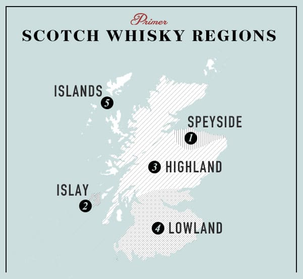 scotch whisky regions map