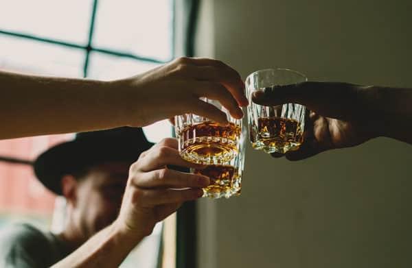 toasting scotch whisky