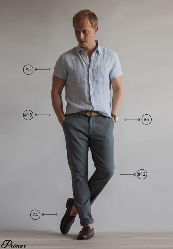short sleeve linen shirt men outfit summer essentials