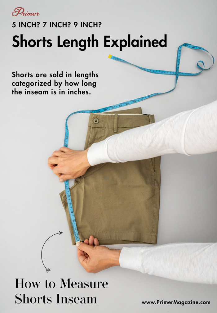 how to measure shorts inseam