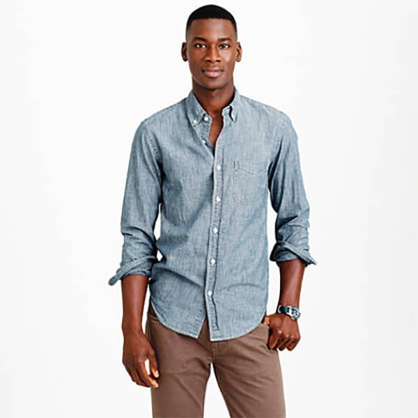 J.Crew Mercantile Men's Long-Sleeve Chambray Shirt