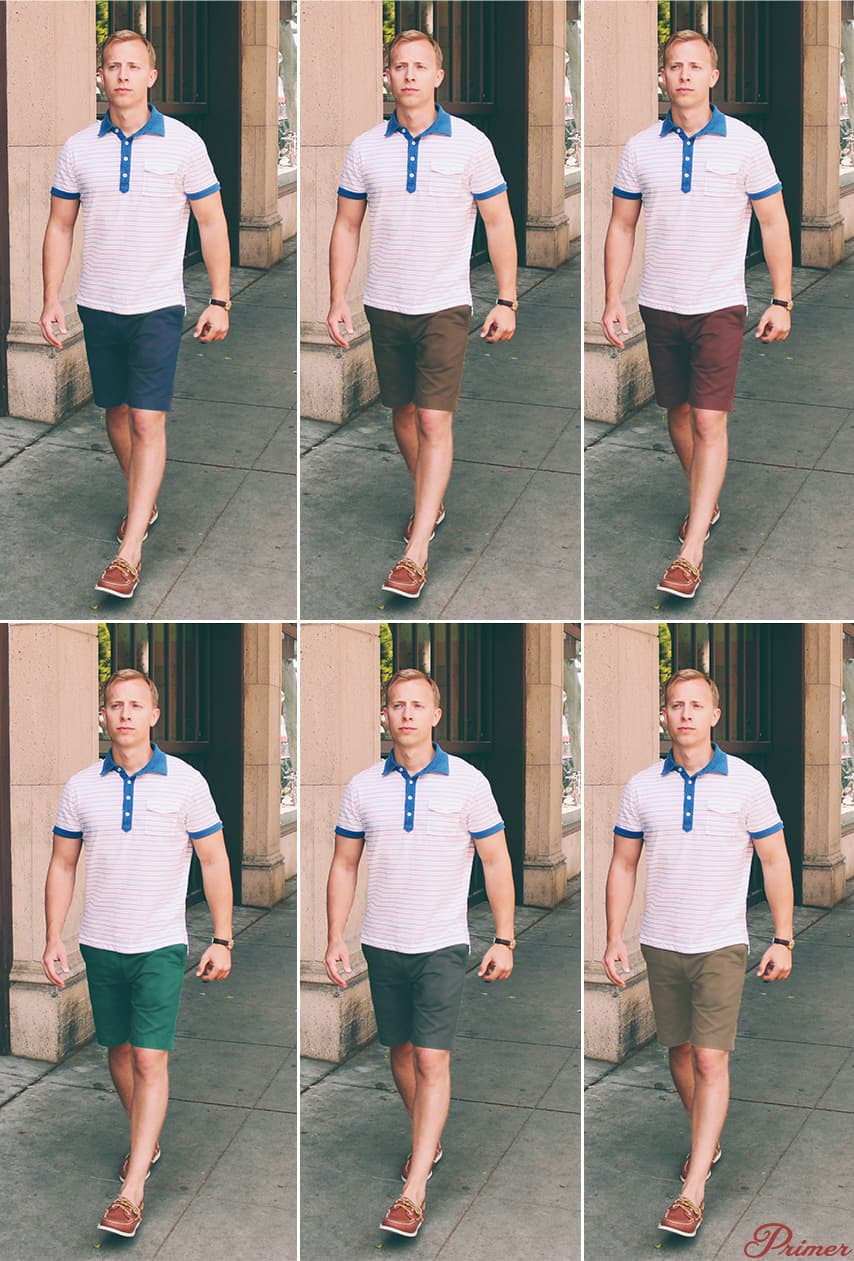how shorts color affects summer outfits