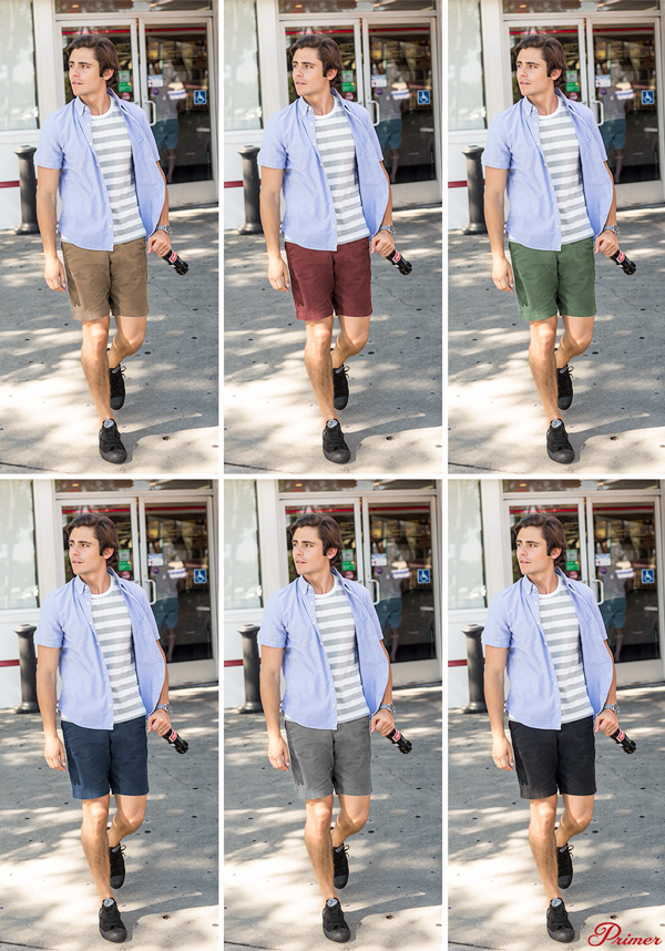 how mens shorts color affects summer outfits