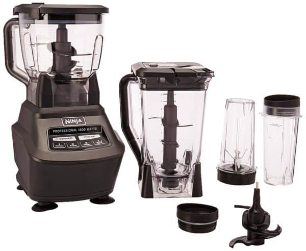 Ninja Mega Kitchen System (BL770) Blender/Food Processor with 1500W Auto-iQ Base, 72oz Pitcher, 64oz Processor Bowl, (4) 16oz Cup for Smoothies, Dough