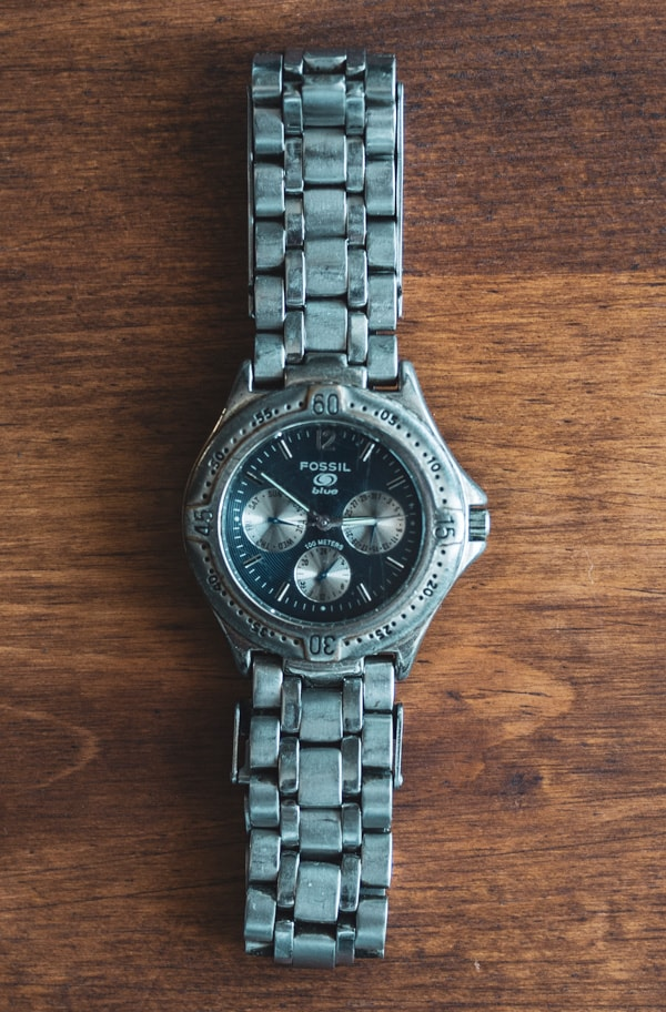 Old fossil chronograph watch