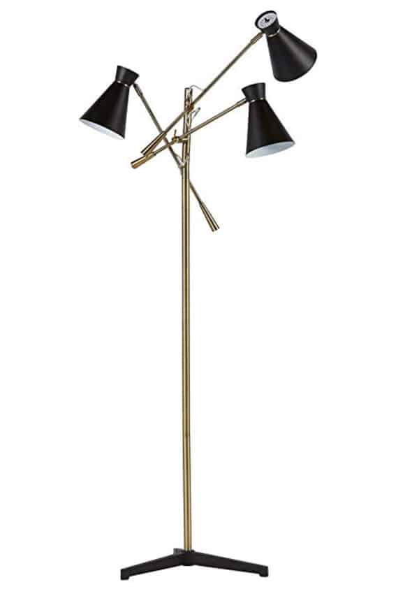 Rivet Retro 3-Arm Floor Lamp, 69