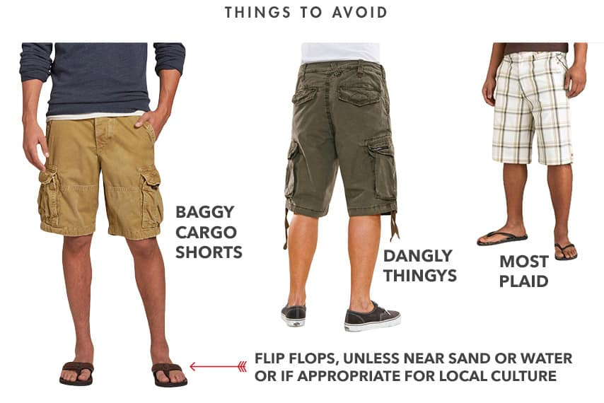 dont wear baggy cargo shorts
