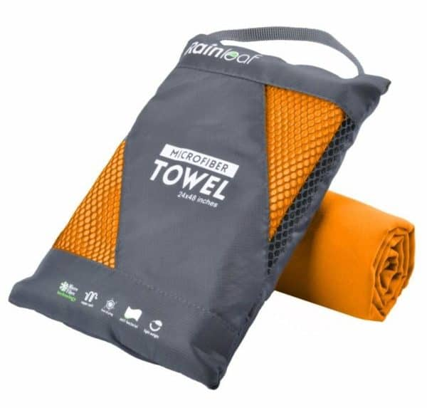 Rainleaf Microfiber Towel Perfect Sports & Travel &Beach Towel. Fast Drying - Super Absorbent - Ultra Compact. Suitable for Camping, Gym, Beach, Swimming, Backpacking.