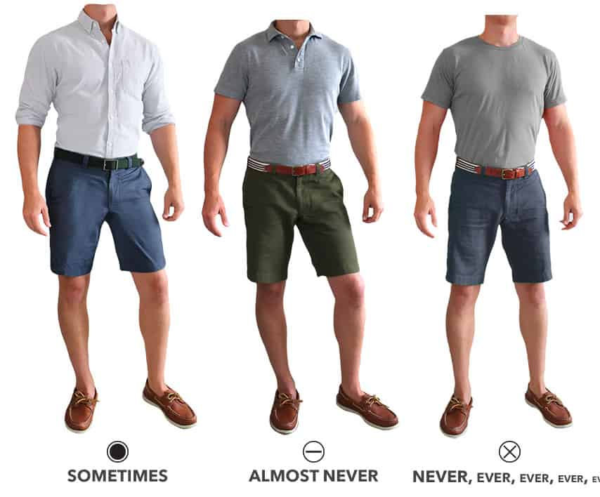 should you tuck shirt into shorts