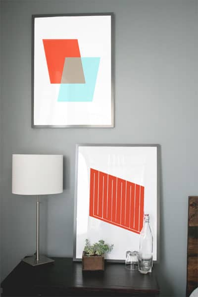 abstract geometric prints