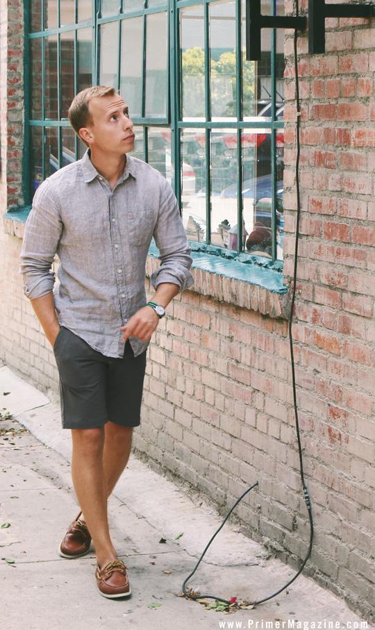 long sleeve tan linen shirt men
