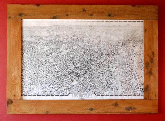 DIY Giant Map & Frame {Only $30}