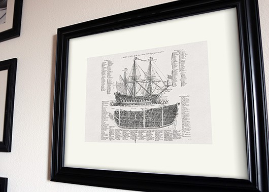 ship of war art print