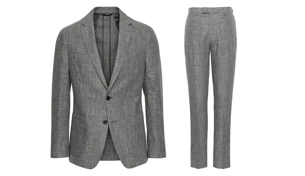 banana republic linen suit