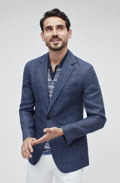 bonobos blue linen blazer