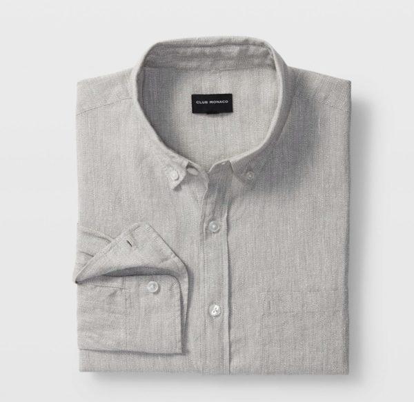 club monaco slim linen shirt