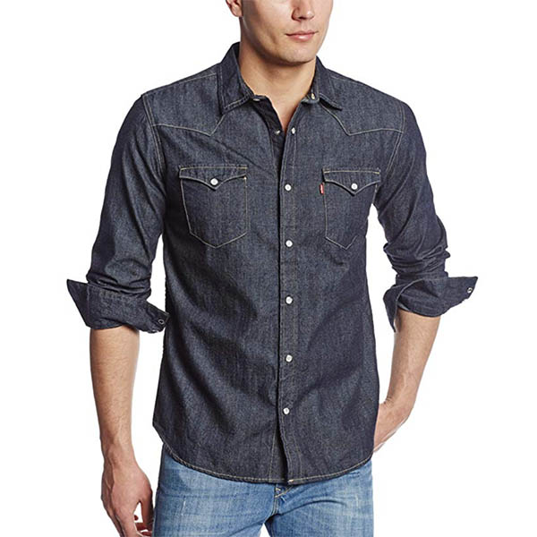 Levi's Men's Standard Barstow Denim Western Snap Up Shirt