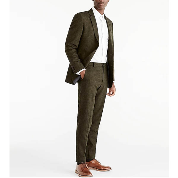 Slim-fit Thompson suit jacket in Donegal wool