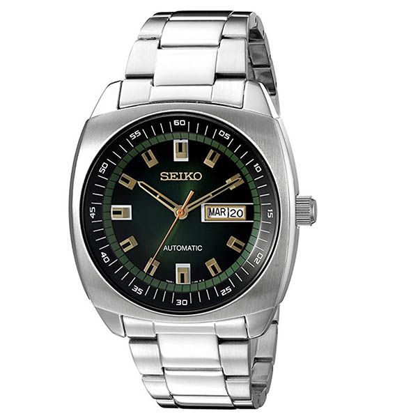Seiko Men's Silvertone Stainless Steel Automatic Watch