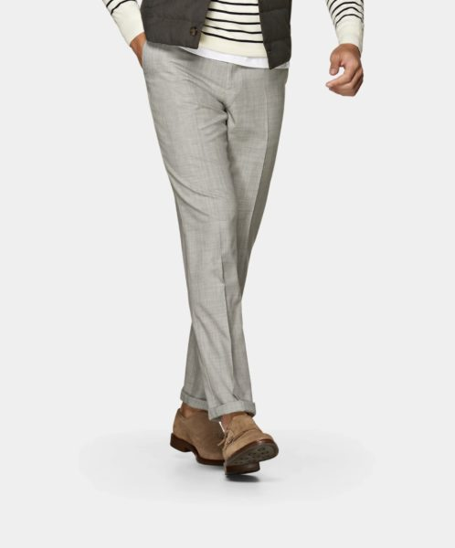 suit supply grey fishtail trousers