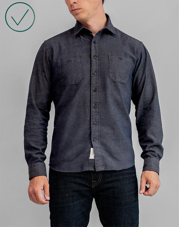 proper fit untucked shirt