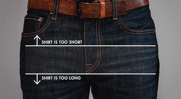 how long should a shirt be diagram