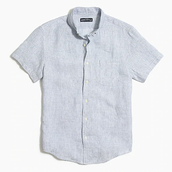 jcrew factory linen shirt