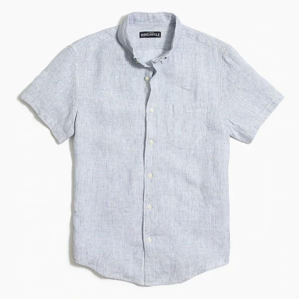jcrew factory linen shirt