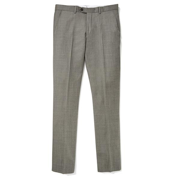 Jomers Taupe Sharkskin Vitale Barberis Canonico Dress Pants