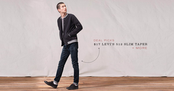 Deal: $17 Levi's 512 Slim Taper + More