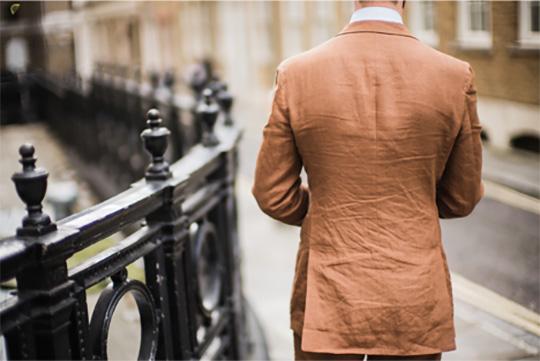 wrinkled linen suit jacket