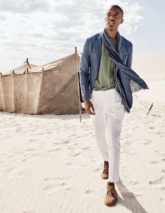linen blazer and pants