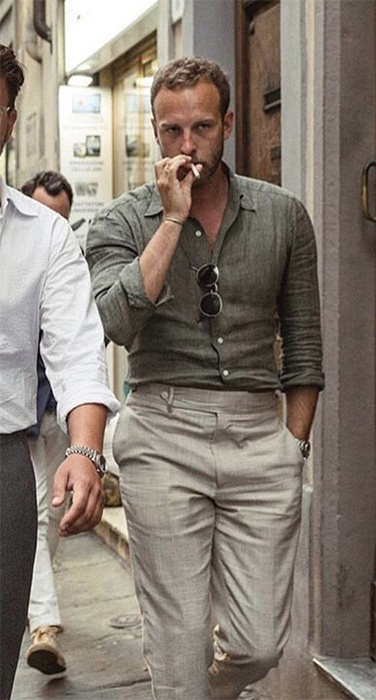 linen shirt and pants