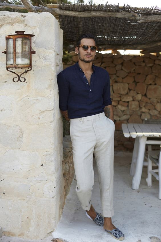 linen shirt and pants