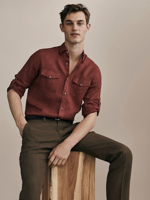 red linen shirt summer