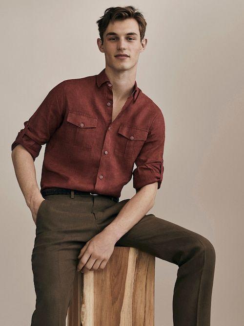 red linen shirt summer
