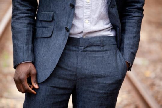 linen suit pants