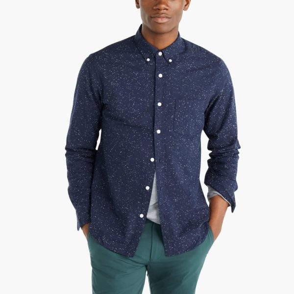 Slim marled cotton shirt