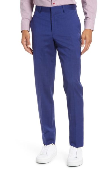 Tech-Smart Slim Fit Stretch Wool Dress Pants